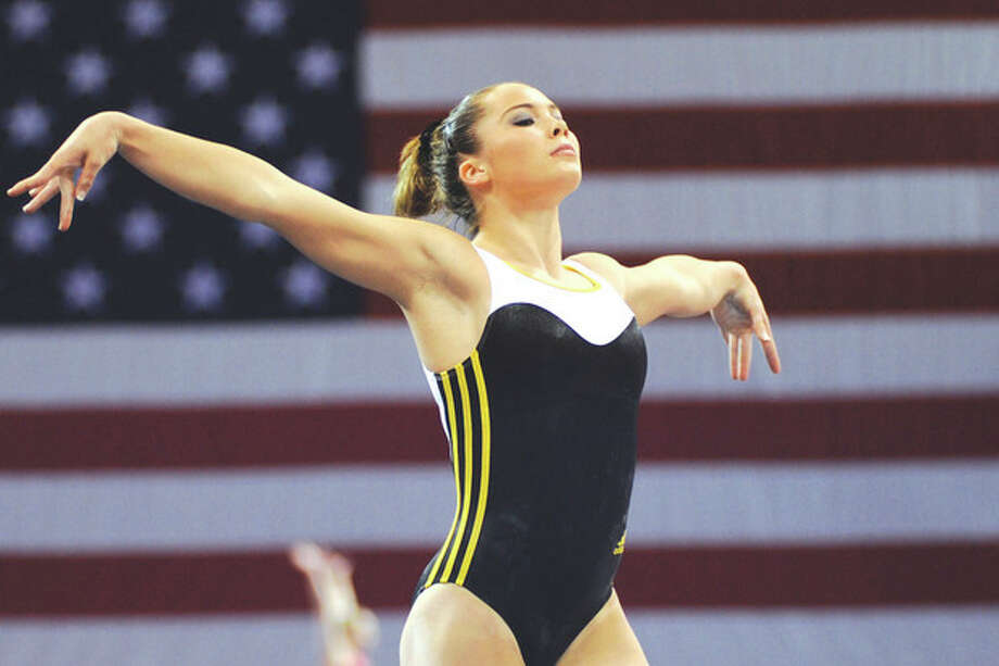 Hour photo/John NashMcKayla Maroney of the All-Olympia gymnastic club in Long Beach, Calif., will be one of better known gymnasts competing at the 2013 P&G Gymnastics Championships in Hartford this weekend.