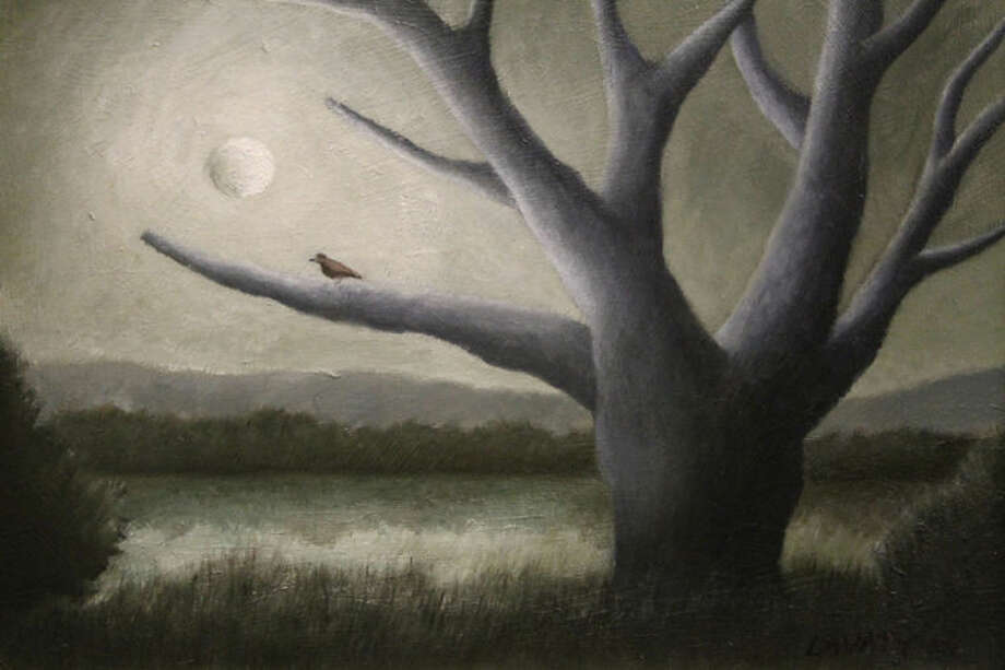 """Moonlit Tree"" by Jeff Lavaty will be one of the paintings on display at Wilton Library's ""12 x 6 — A Showcase of Six Wilton Artists,"" which opens Friday, Nov. 8. Other featured artists include Gini Frank Fischer, Robin Heit, Terrence Lallak, Day Shields and Erasmo Signore. The exhibition runs through Nov. 29."