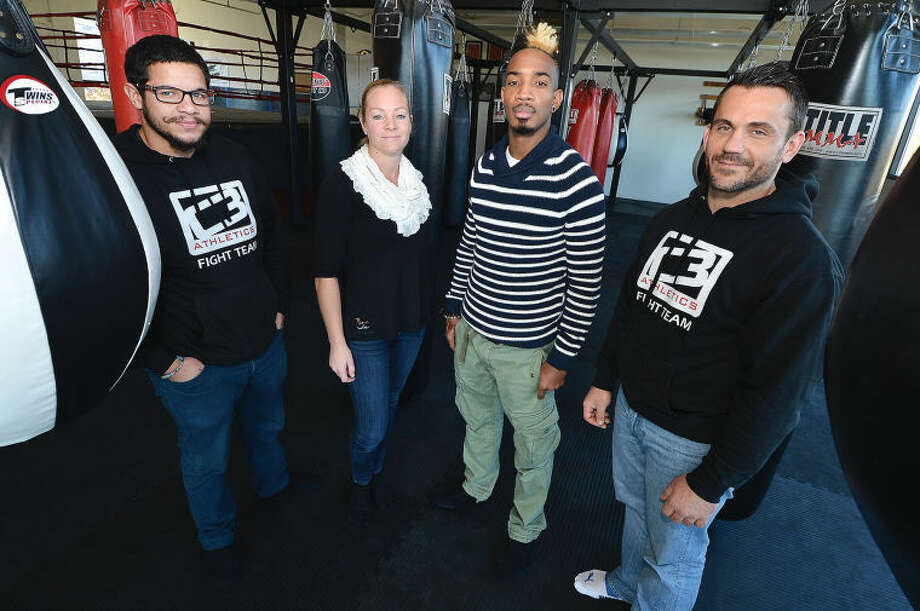 C3 Athletics, from left to right: Instructor Omar Estevez, Owner Karin George, Instructor Staphane Smarth, and Manager Chris Mangone.