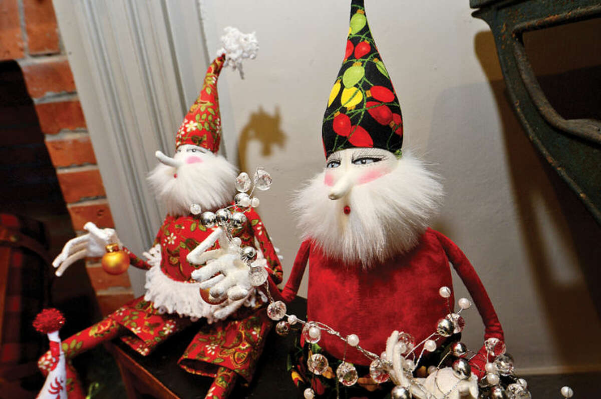 Hour photo / Erik Trautmann Wilton Historical Society is prepping for its first annual Holiday Trunk Show and Great Trains Holiday Exhibit. The trunk show wil sell handcrafted merchandise from six local vendors at the society's Betts Store including hand-made dolls by Carol Andrews.