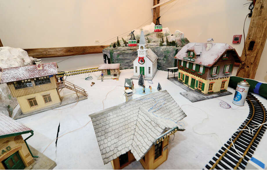 Hour photo / Erik Trautmann Wilton Historical Society is prepping for its first annual Holiday Trunk Show and Great Trains Holiday Exhibit. The train exhibit will feature donated antique model train sets in a variety of gauges.