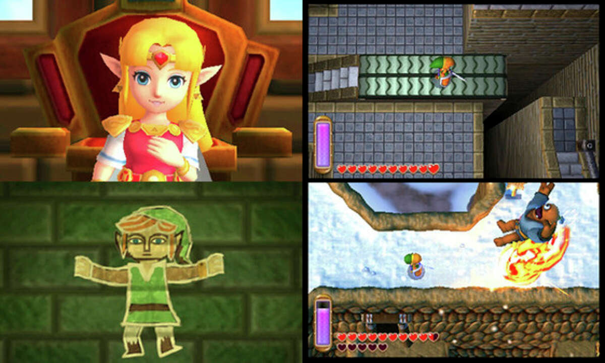 These images provided by Nintendo shows four screenshots of the video game,