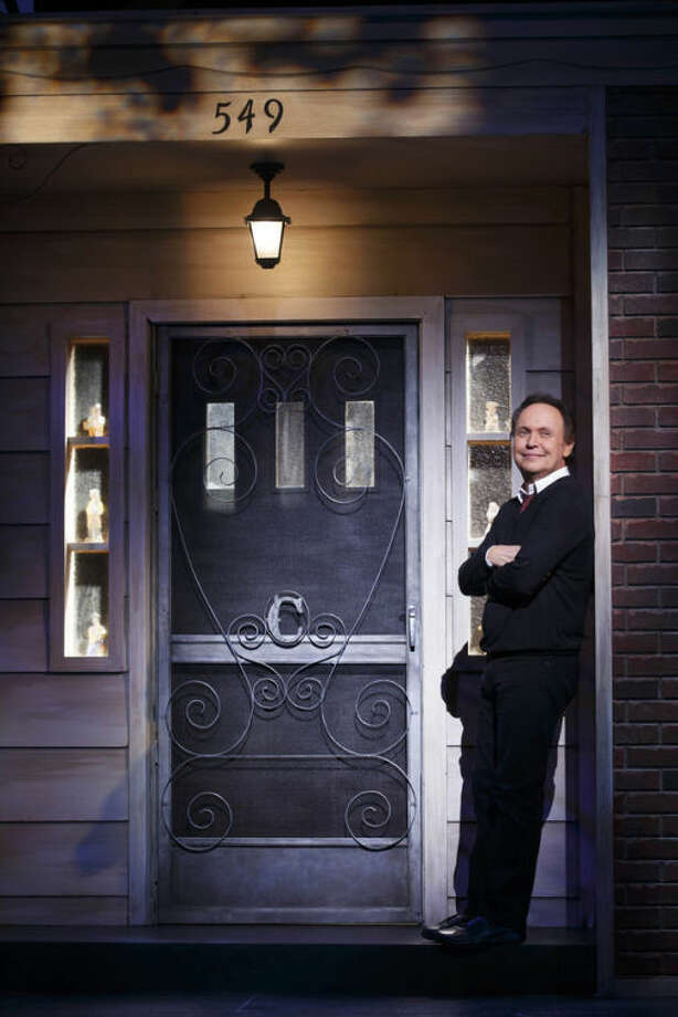 "This 2013 photo provided by The Hartman Group shows actor Billy Crystal in his one-man show, ""700 Sundays,"" at the Imperial Theatre in New York. (AP Photo/The Hartman Group, Carol Rosegg)"