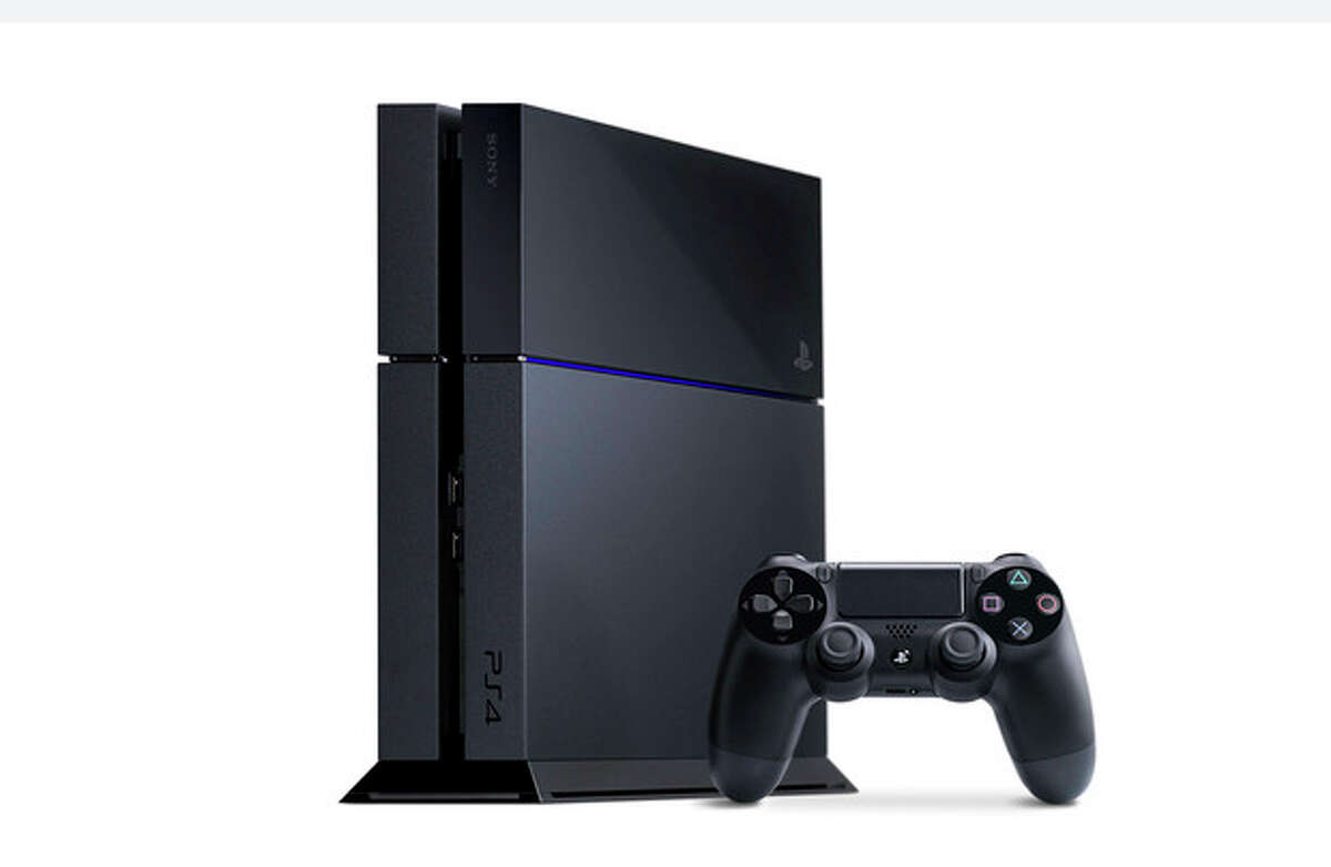 This undated photo provided by Sony shows the Sony Playstation 4. The latest Playstation 4 and its on-screen user interface has been streamlined, with a horizontal bar of large icons for games and apps. (AP Photo/Sony)
