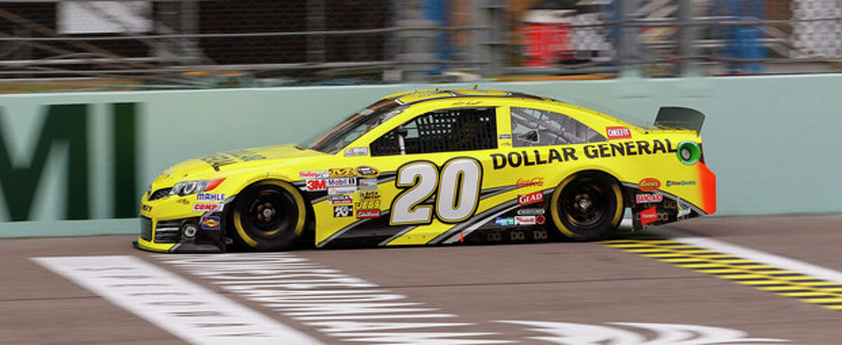 Driver Matt Kenseth drive a lap during practice for Sunday's NASCAR Sprint Cup series auto race Friday, Nov. 15, 2013, at Homestead-Miami Speedway in Homestead, Fla. (AP Photo/Terry Renna)