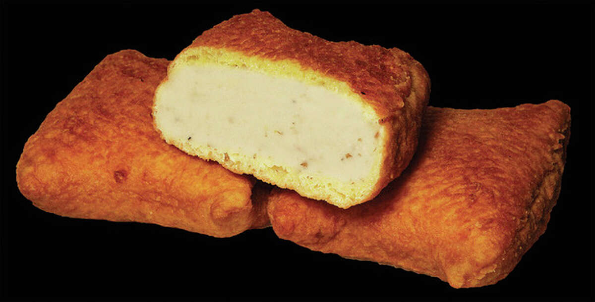 This undated photo provided by Gabila Food Products, Inc. shows their original Coney Island square knishs, which have been off the market for at least six weeks. A fire at a Long Island factory billed as the world?'s biggest maker of knishes has led to a nationwide shortage of the fried, square doughy pillows of pureed potatoes and other fillings. (AP Photo/Gabila Food Products, Inc.)