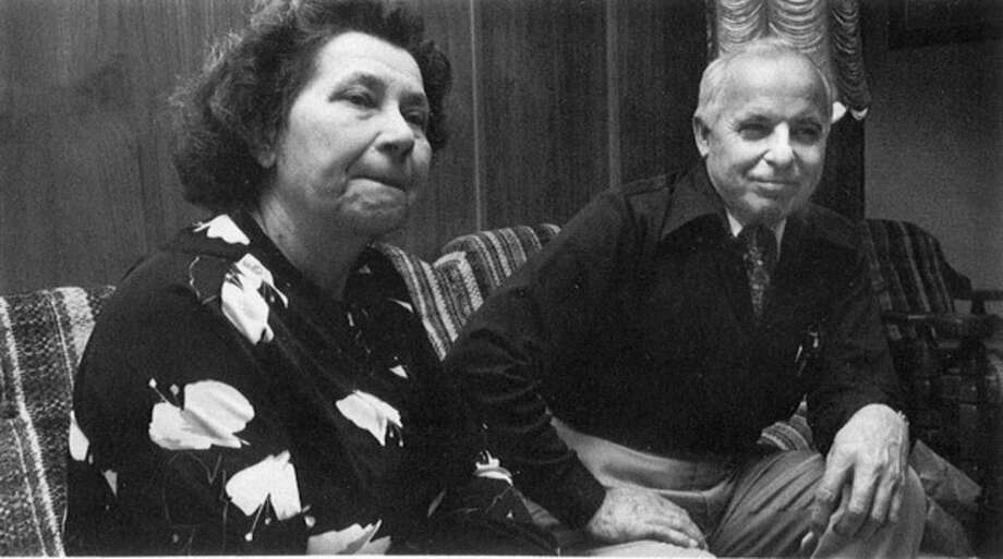 This 1982 photo provided by the University of Minnesota shows Nadia and Michael Karkoc. The Associated Press has uncovered testimony that says Michael Karkoc, a Minnesota man who was a Nazi SS-led company commander, ordered his men to attack a village that was razed to the ground in 1944, contradicting claims by the man's family that he was never at the scene of the civilian massacre. (AP Photo/University of Minnesota School of Journalism and Mass Communication, Thomas Perry) / University of Minnesota