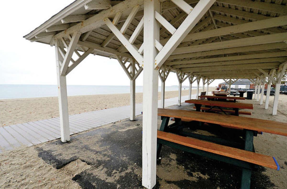 Hour photo / Erik Trautmann Westport unveils their master plan for revamping Compo Beach Saturday.