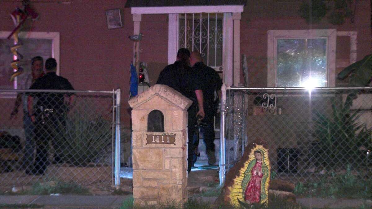 Police say masked intruders broke into a home on the West Side on Thursday morning and shot a man as he slept.