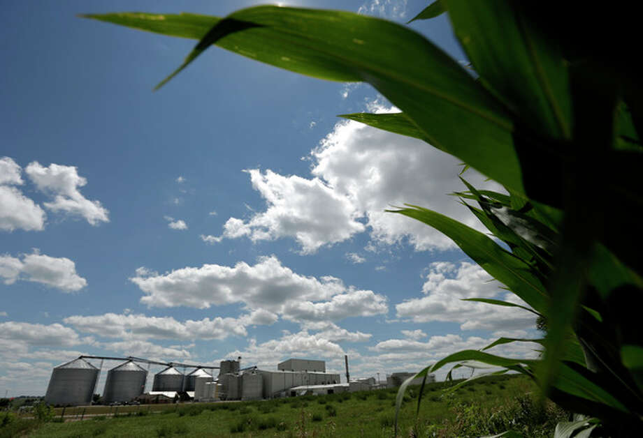 FILE - In this July 20, 2013 file photo, a plant that produces ethanol is next to a cornfield near Coon Rapids, Iowa. For decades, a presidential candidate's chances in Iowa were wounded if not doomed unless he embraced federal support for ethanol, a now flourishing component to Iowa's economy in this corn-growing state. That immutable rule collapsed resoundingly early in the last campaign when five of the six top Republican candidates largely renounced a decades-old ethanol tax credit. (AP Photo/Charlie Riedel, File) / AP