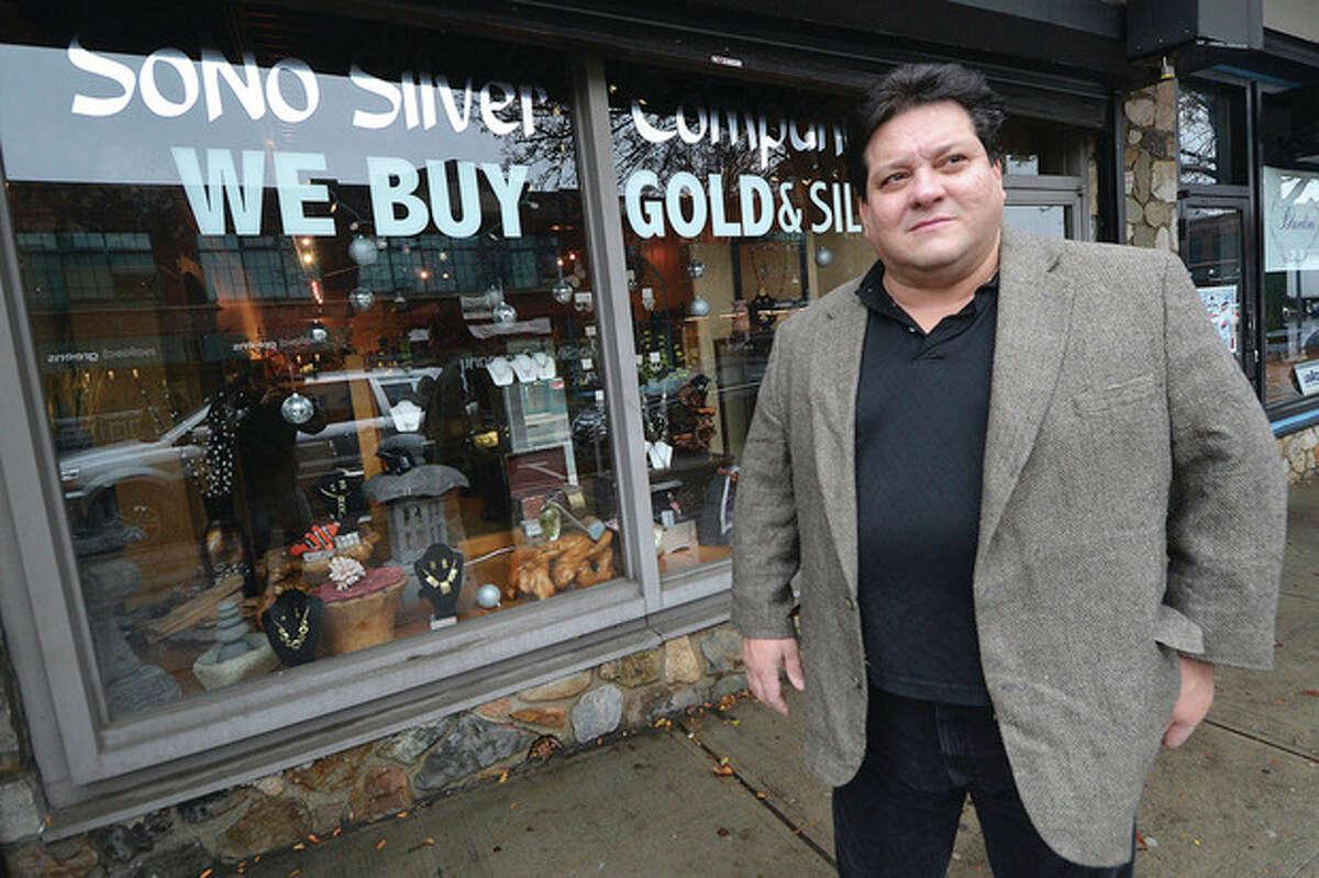 Hour Photo/Alex von Kleydorff Owner Jack Chairamonte in front of his Sono Silver store.