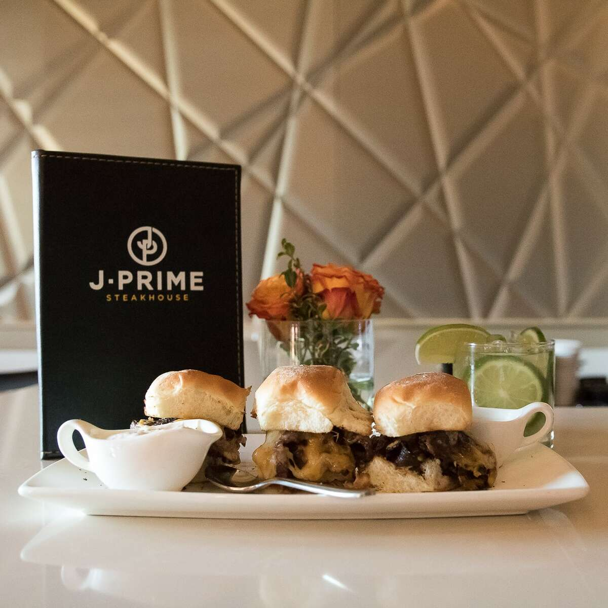 Prime rib sliders at J-Prime Steakhouse.