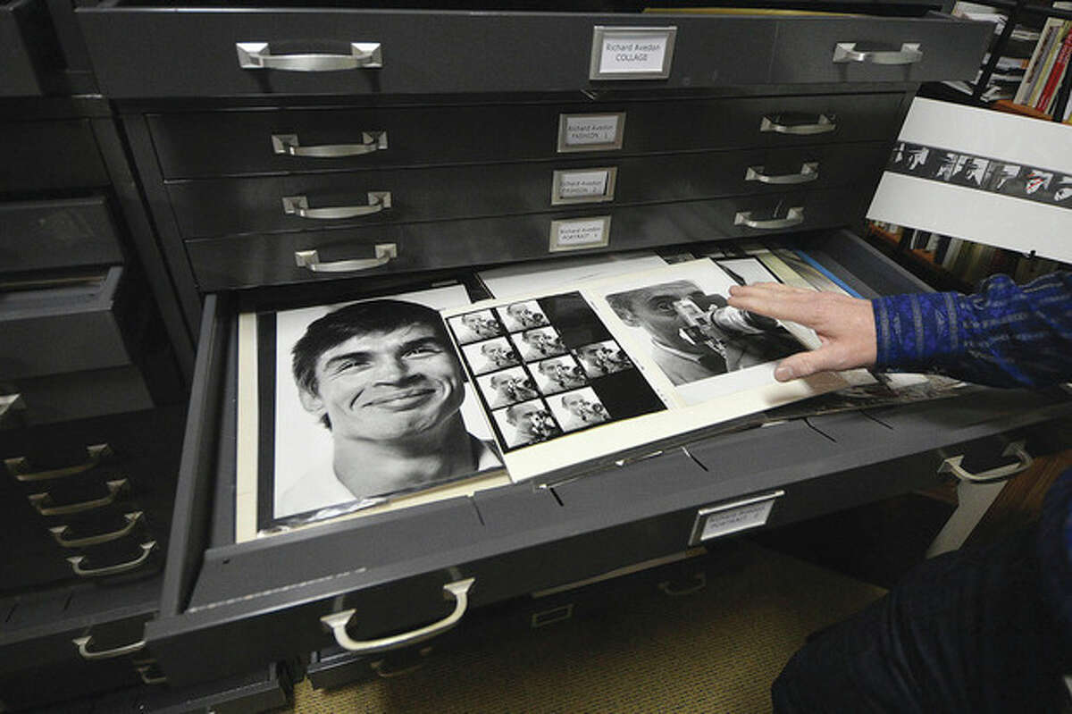 Hour Photo / Alex von Kleydorff A file cabinet full of photos from this centurys most well known photograhers. A print of Rudolf Nuryeyev smiling is just one of them.