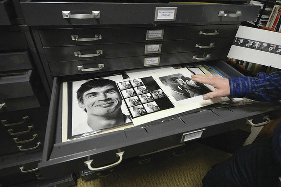 Hour Photo / Alex von KleydorffA file cabinet full of photos from this centurys most well knownphotograhers. A print of Rudolf Nuryeyev smiling is just one of them.