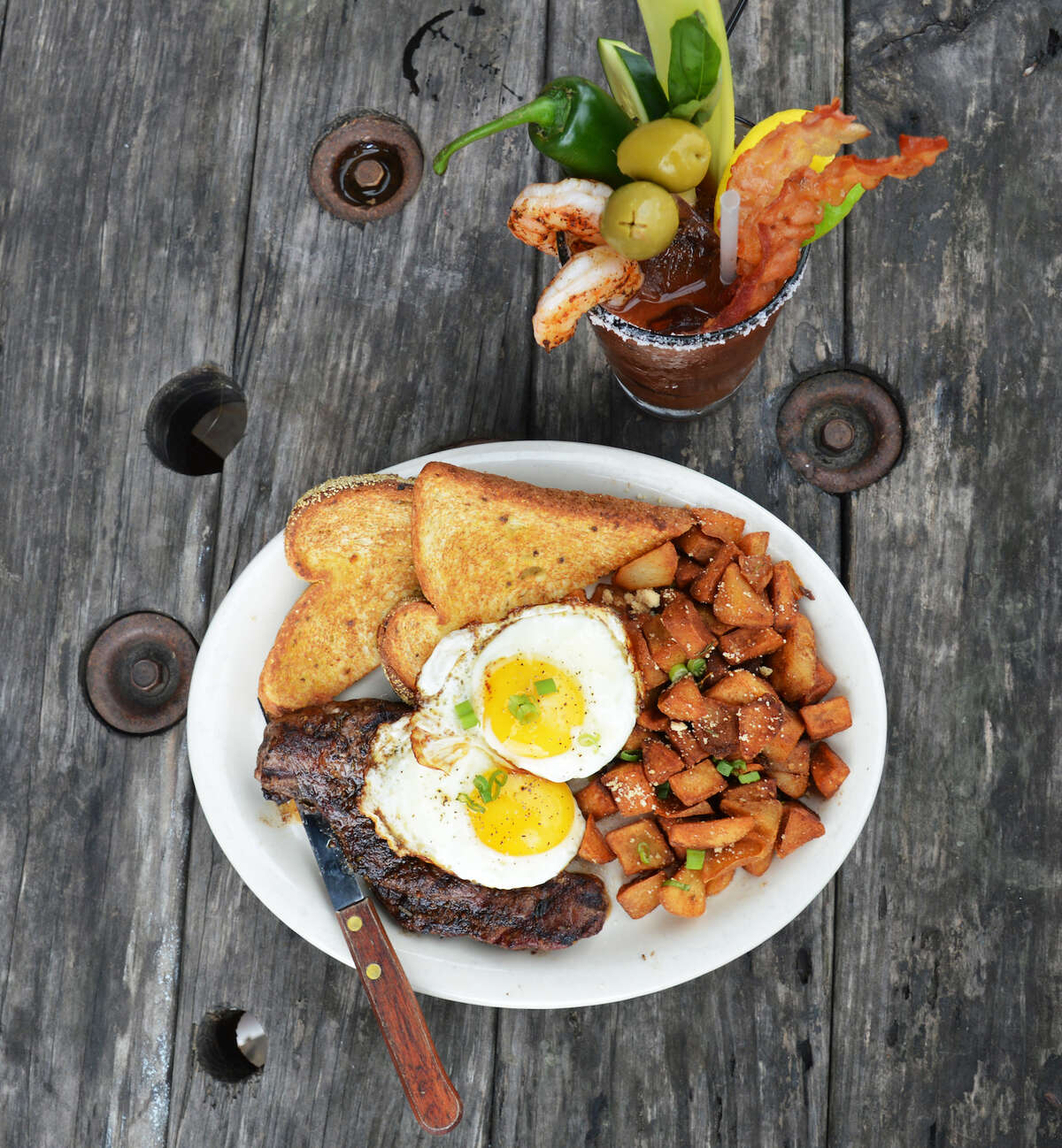 Doc's Bar &ill has launched a new brunch menu. Shown: New York strip steak and eggs.