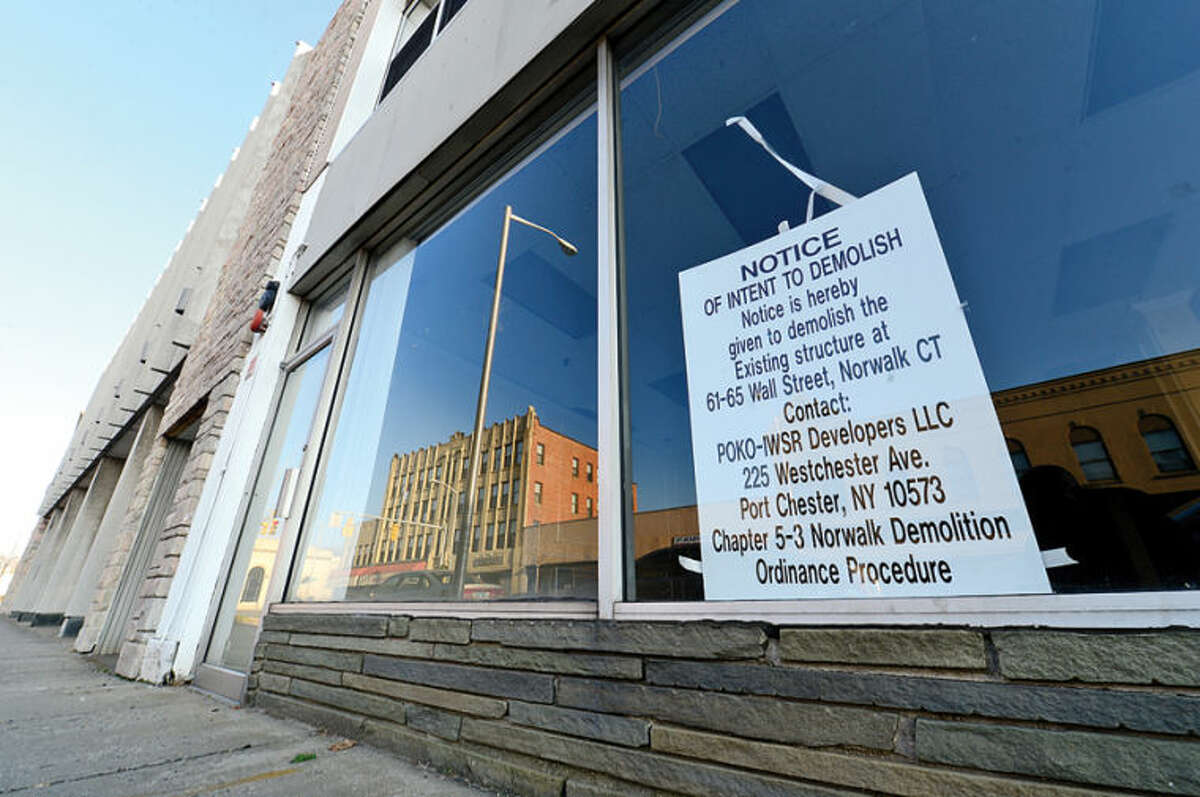 Hour photo / Erik Trautmann POKO Partners, LLC, is requesting another extension from Norwalk Zoning Commission to break ground on the Wall Street development.