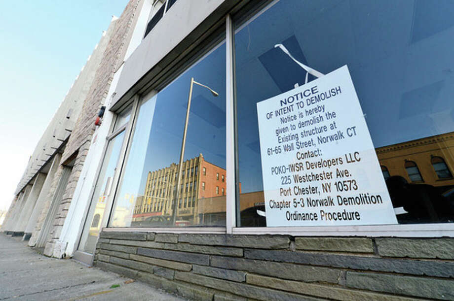 Hour photo / Erik Trautmann POKO Partners, LLC, is requesting another extension from Norwalk Zoning Commission to break ground on the Wall Street development. / (C)2013, The Hour Newspapers, all rights reserved