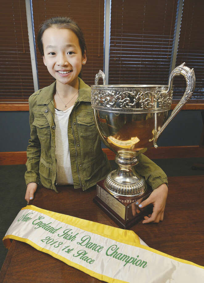 Hour Photo/Alex von KleydorffChloe Armstrong with the first place trophy and sash.
