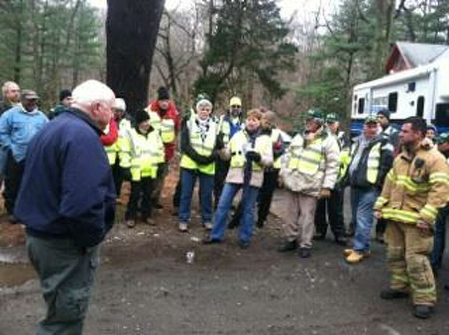 Participants in the training exercise are briefed on the day's activities.