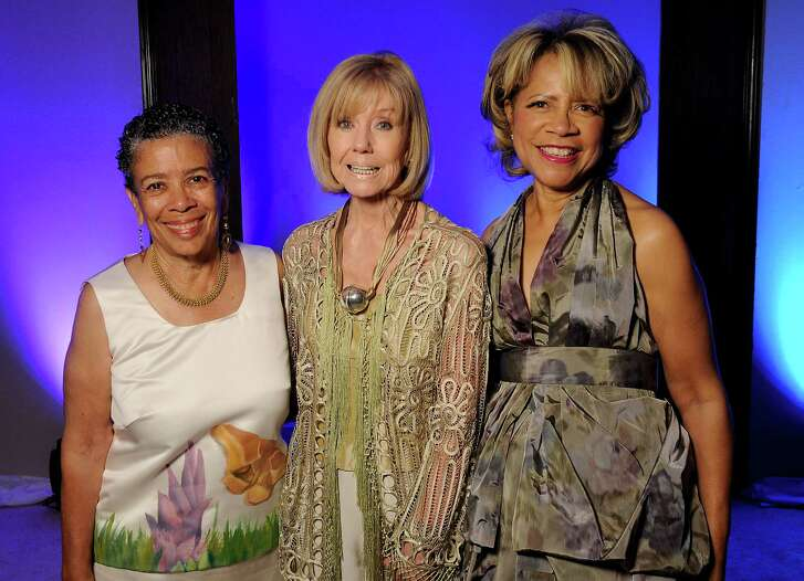Alvia Wardlaw, from left, honoree Shelby Marcus and chair Merele Yarborough