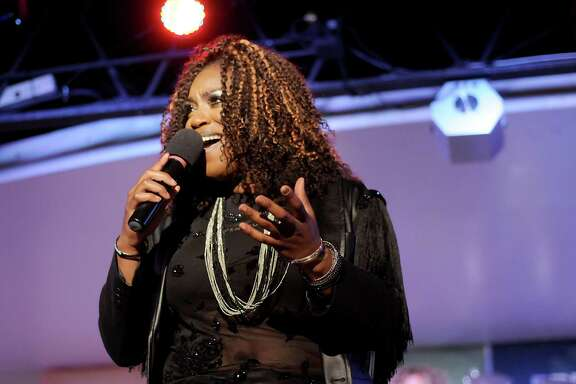 Contestant Morena Roas performs at the semi-finals of the Pride Superstar singing competition at Meteor Wednesday June 15,2016.(Dave Rossman Photo)