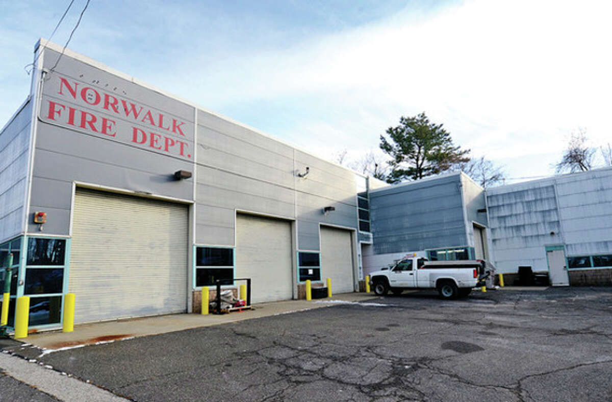 Hour photo / Erik Trautmann Norwalk Common Council is considering a $1.3 million grant to convert 100 Fairfield Ave. into a regional Fire Fleet Maintenance Facility where emergency vehicles from surrounding towns also would be fixed.