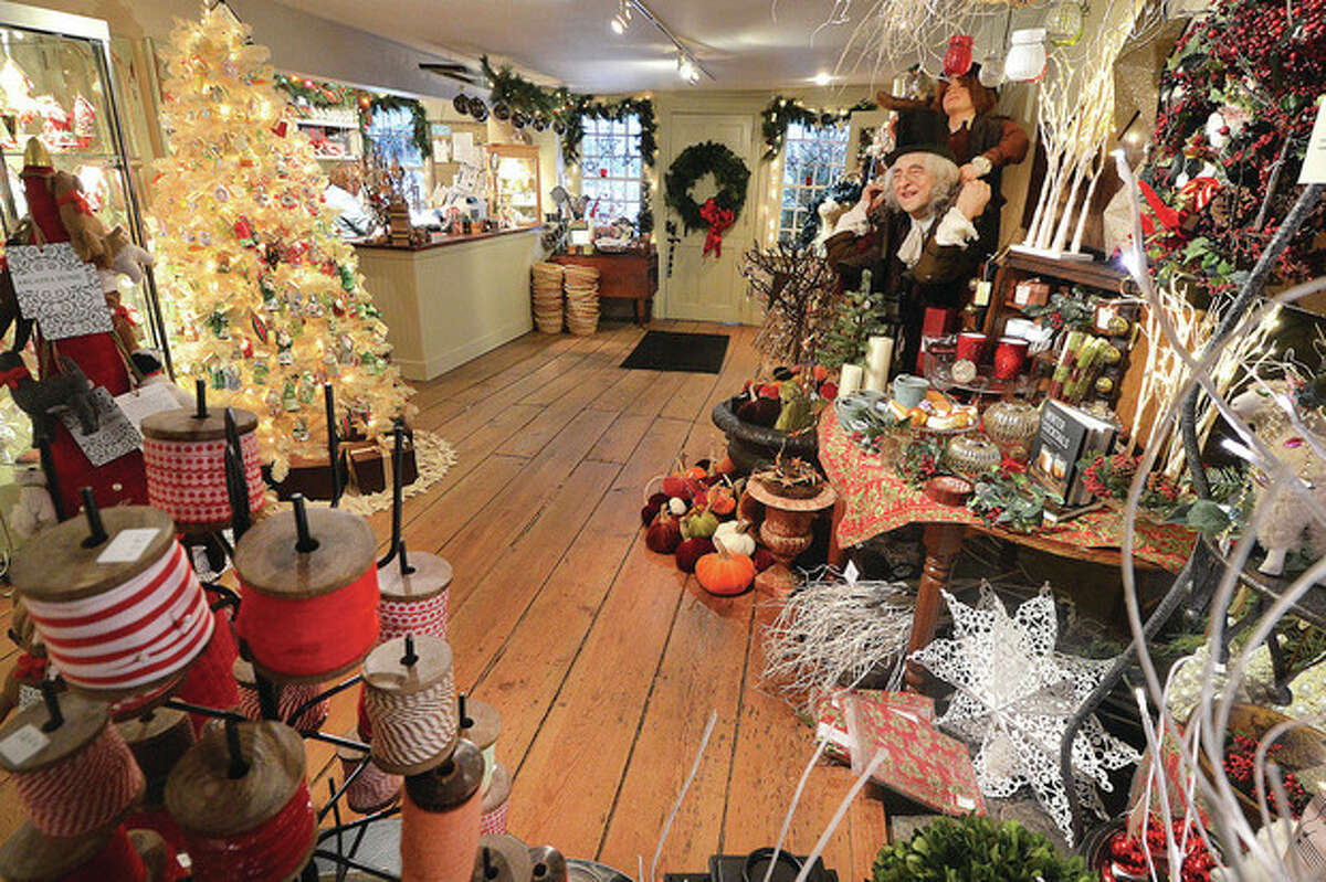 Hour Photo/Alex von Kleydorff Much more than just ornaments at The Historical Christmas Barn in Wilton