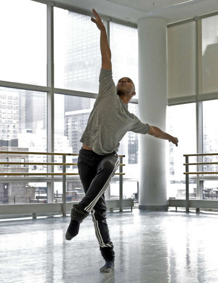 AP Photo/Richard DrewIn this Monday, Dec. 2, photo, Matthew Rushing, a veteran star of the Alvin Ailey Dance Theater, rehearses at the company's headquarters, in New York. When Rushing was a young boy growing up in Inglewood, Calif., his mother was concerned he might fall prey to the gang violence that plagued the city. So she signed him up for an afterschool arts program.