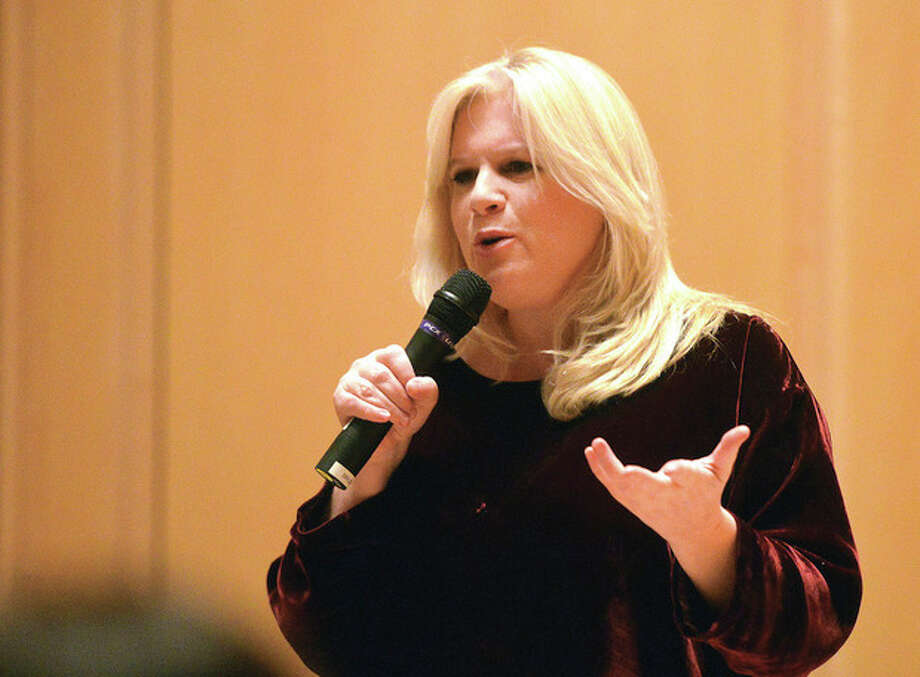 Marion Grodin talks about her Hollywood life at Wilton Library.