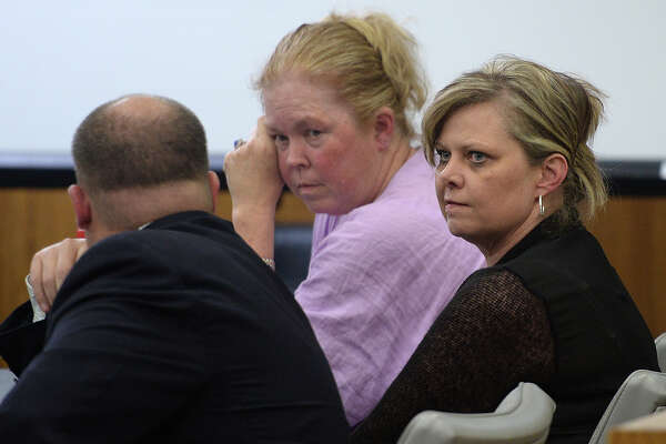 Crystal Boyett just after she was given a 20 year sentence for the charge of manslaughter in the death of Connely Renee Burns. Photo taken Friday, April 24, 2015 Guiseppe Barranco/The Enterprise