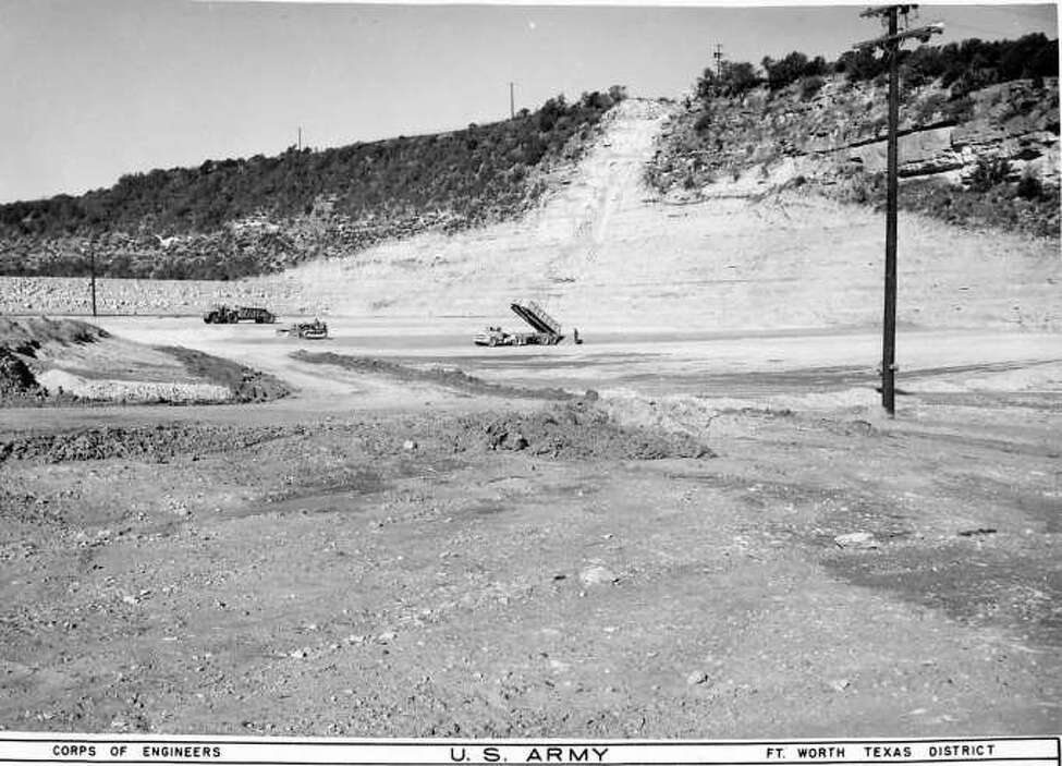 The Canyon Lake floor near the north end of the dam, photographed in December 1962.