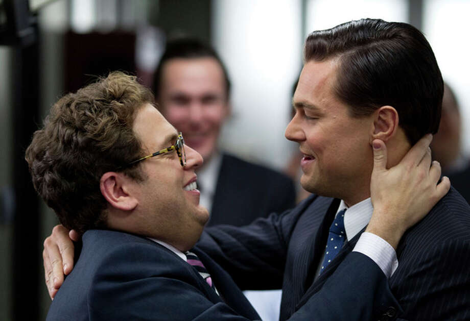 "AP Photo/Paramount Pictures and Red Granite Pictures, Mary CybulskiThis film image released by Paramount Pictures shows Jonah Hill, left, and Leonardo DiCaprio in a scene from ""The Wolf of Wall Street"". / Paramount Pictures"