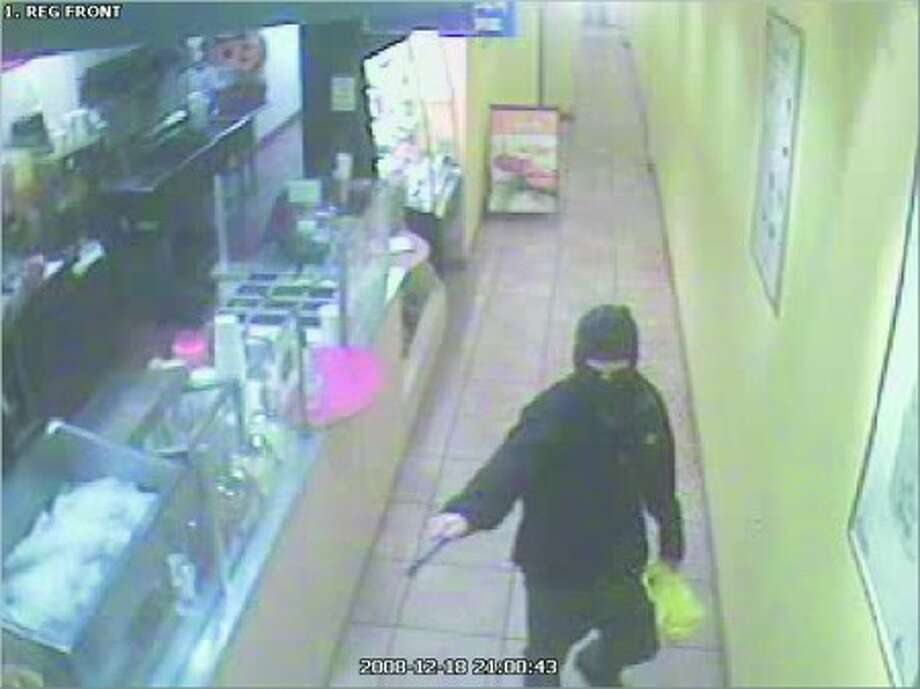 Armed robbery suspect from Robek''s in Westport.