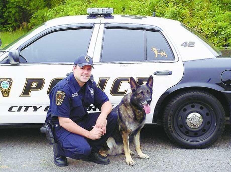 Norwalk Police dog hangs up sniffer