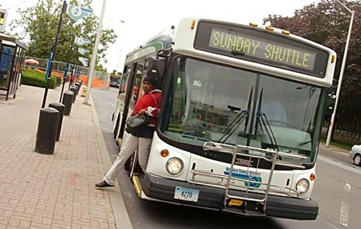 The Norwalk transit district on Burnell Boulevard/hour photo matthew vinci