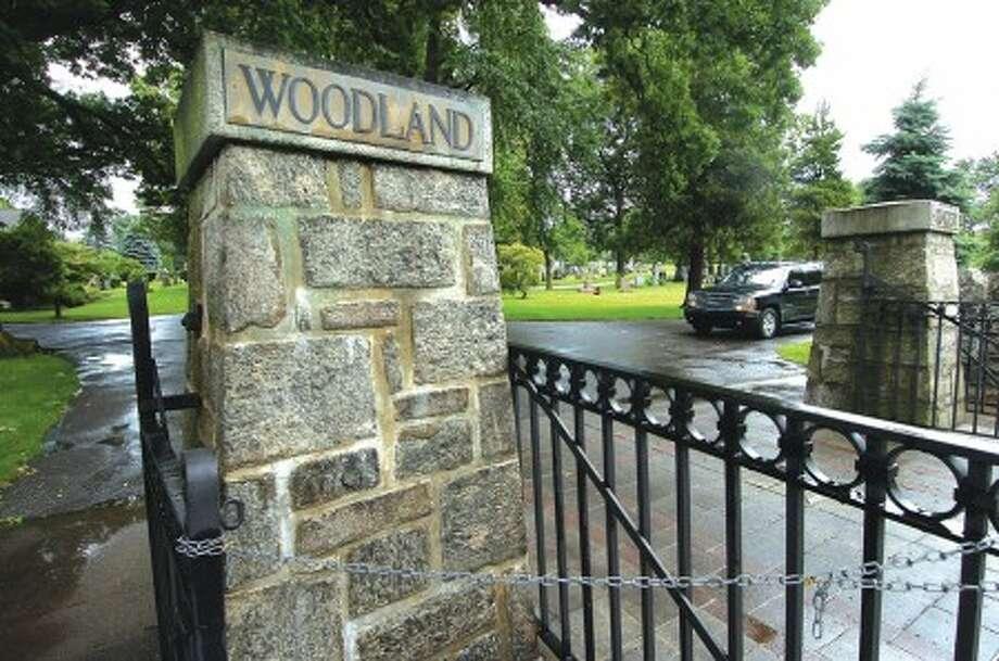 Photo/Alex von Kleydorff. The Gate at Woodland cemetery in Stamford.