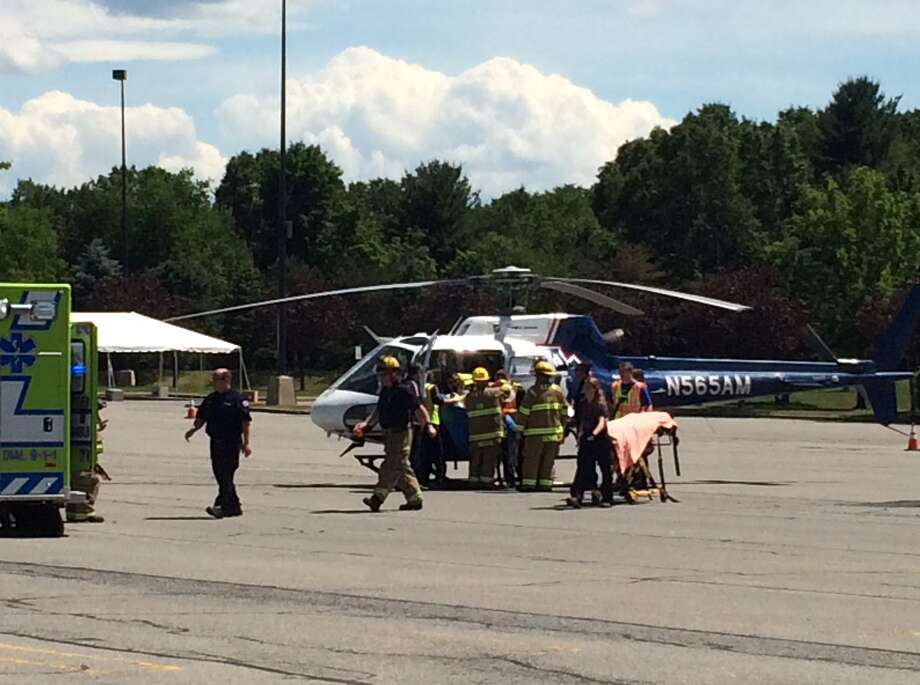 A heliicopter repsonded to a motorcycle accident near Northway Exit 15 in Saratoga Springs on Thursday, June 16, 2016. (Submitted photo)