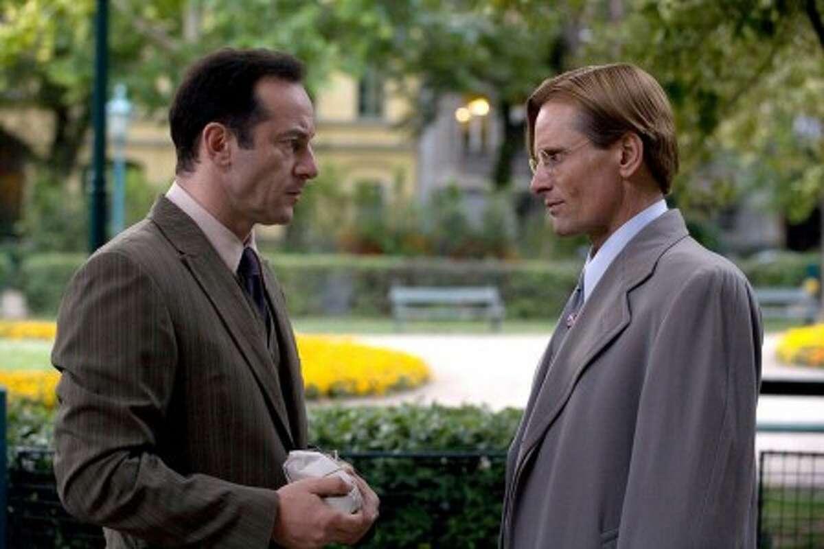 Jason Isaacs, left, as Maurice and Viggo Mortensen as John Halder in