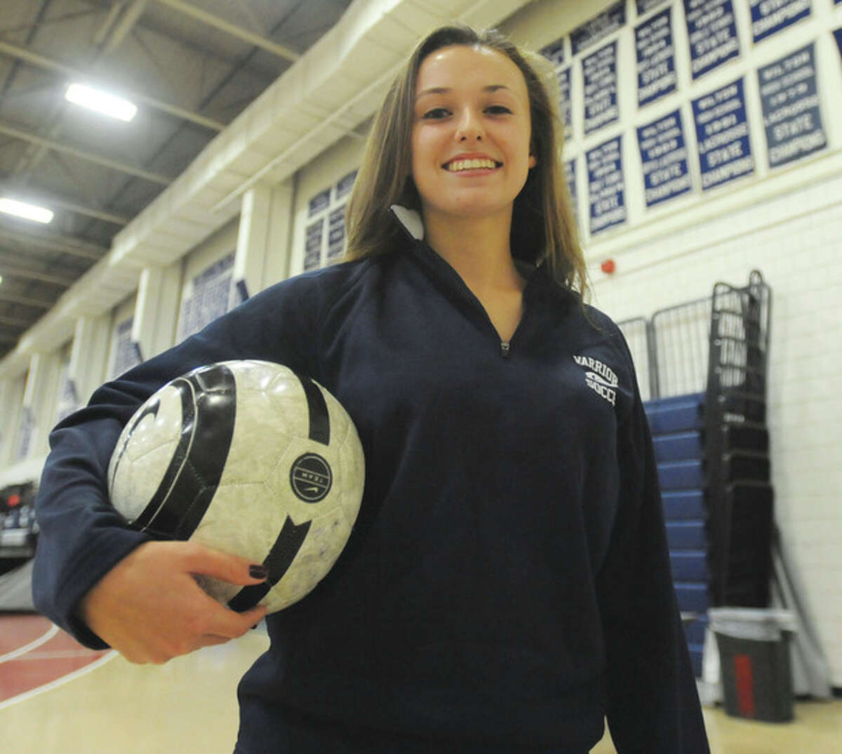 Hour photo/John Nash - Wilton's Lindsay Knutson is The Hour's All-Area MVP for girls soccer in 2013.