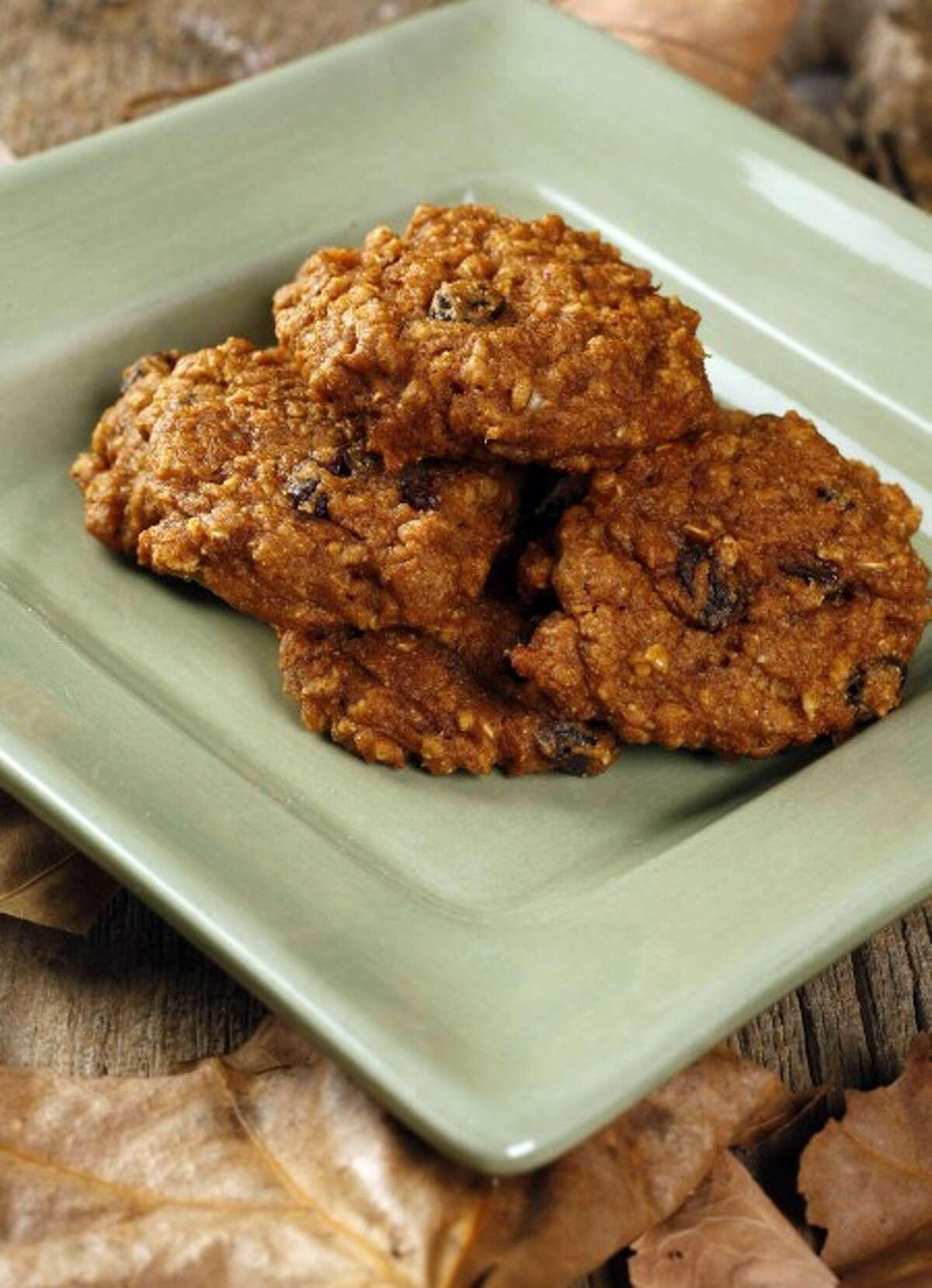 Pumpkin applesauce cookies. (MCT)