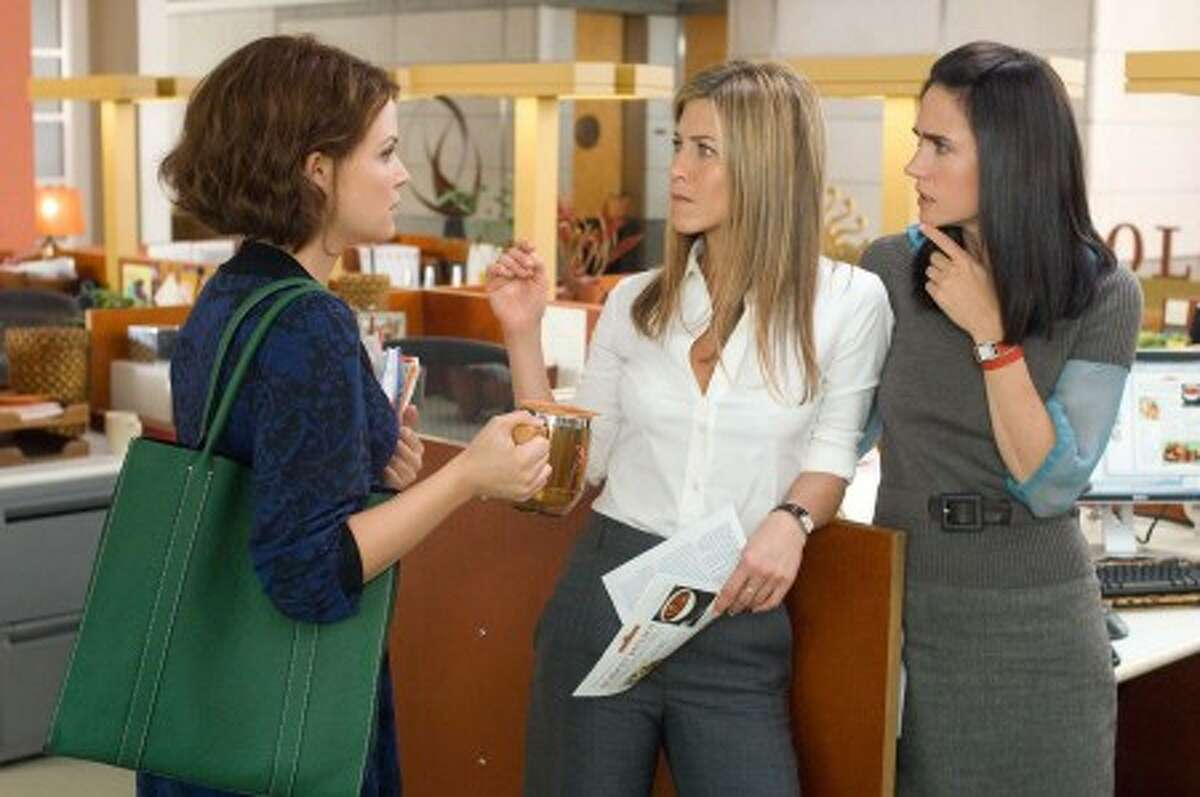 From left, GINNIFER GOODWIN stars as Gigi, JENNIFER ANISTON stars as Beth and JENNIFER CONNELLY stars as Janine in