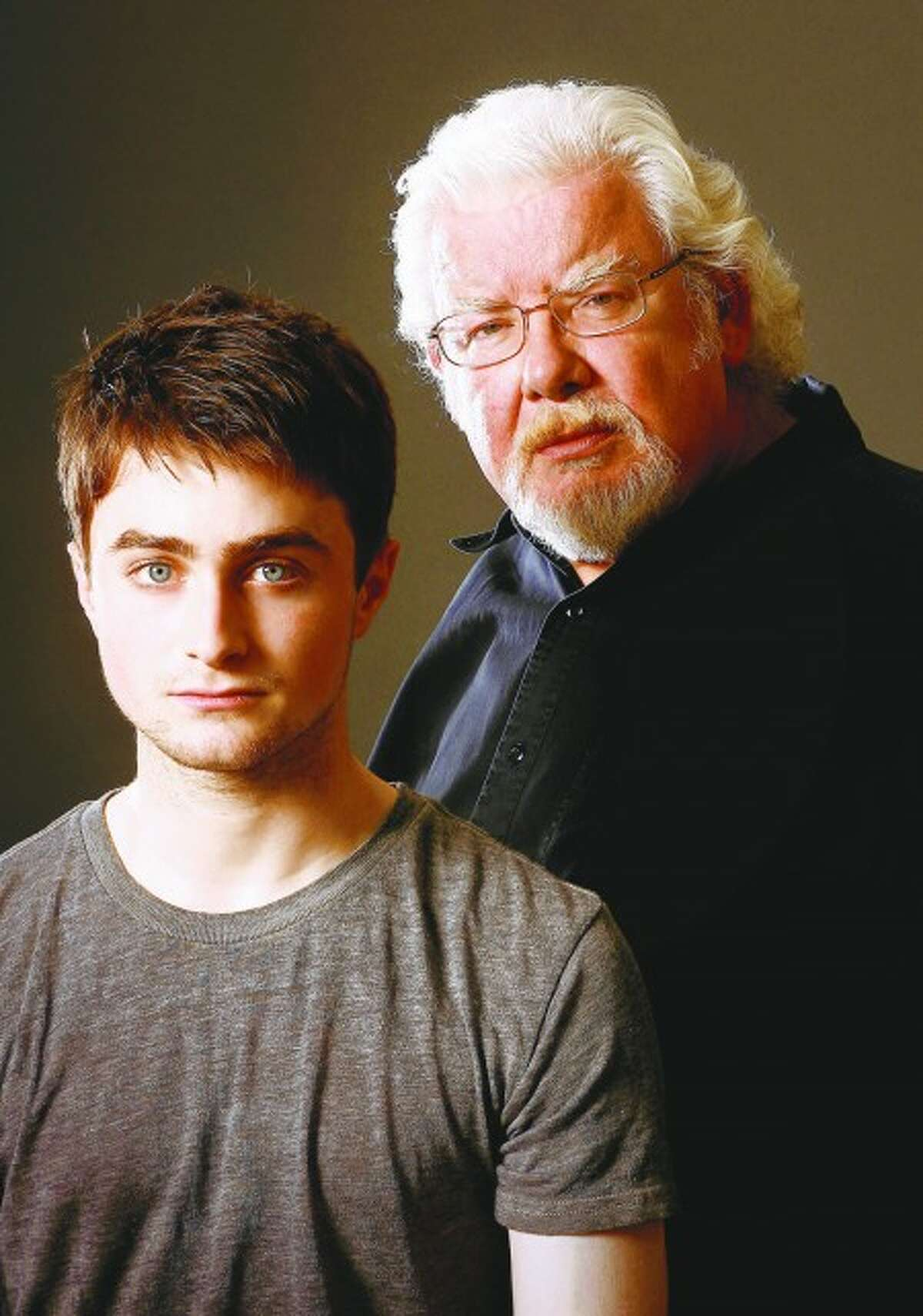 Daniel Radclife, left, is making his Broadway debut Sept. 5 with Richard Griffiths, right, in Equus at the Broadhurst Theatre.