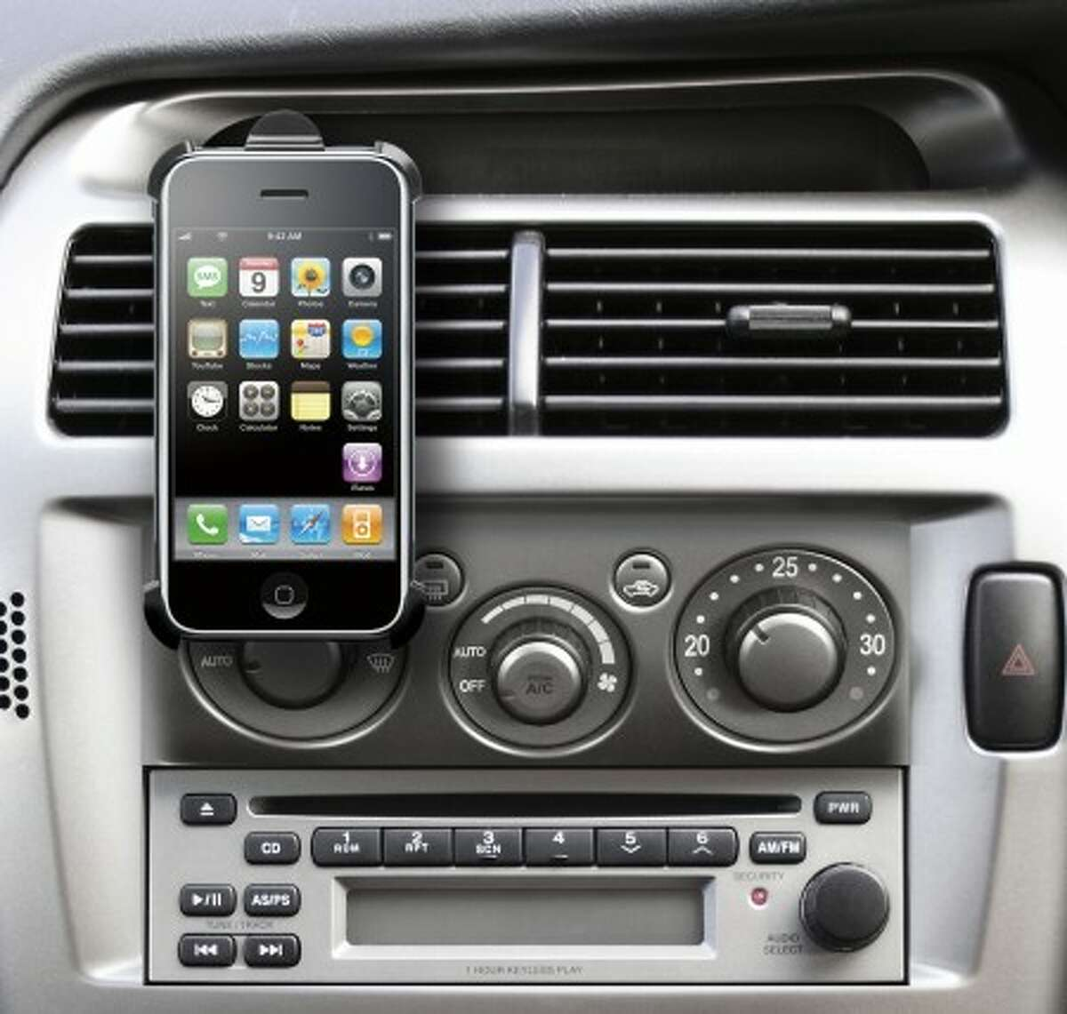 The DLO VentMount car-mounting bracket for iPhone. (MCT)