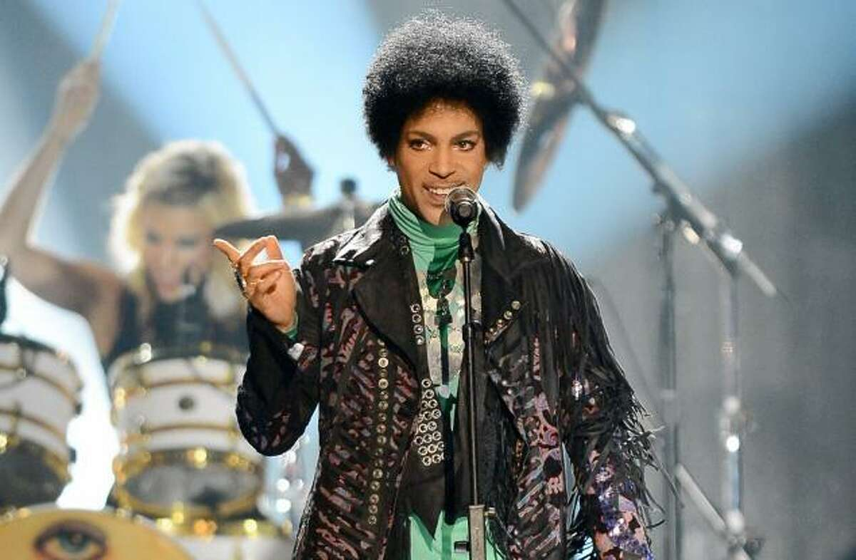 The rock legend Prince, captured here in concert in this Associated Press file photo, is at the Mohegan Sun Arena this weekend. He played Friday and Saturday nights and has one more show slated for Sunday.