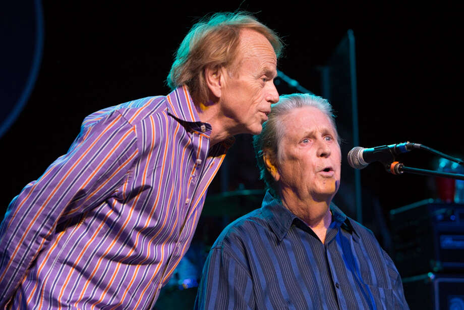 Al Jardine and Brian Wilson in concert.
