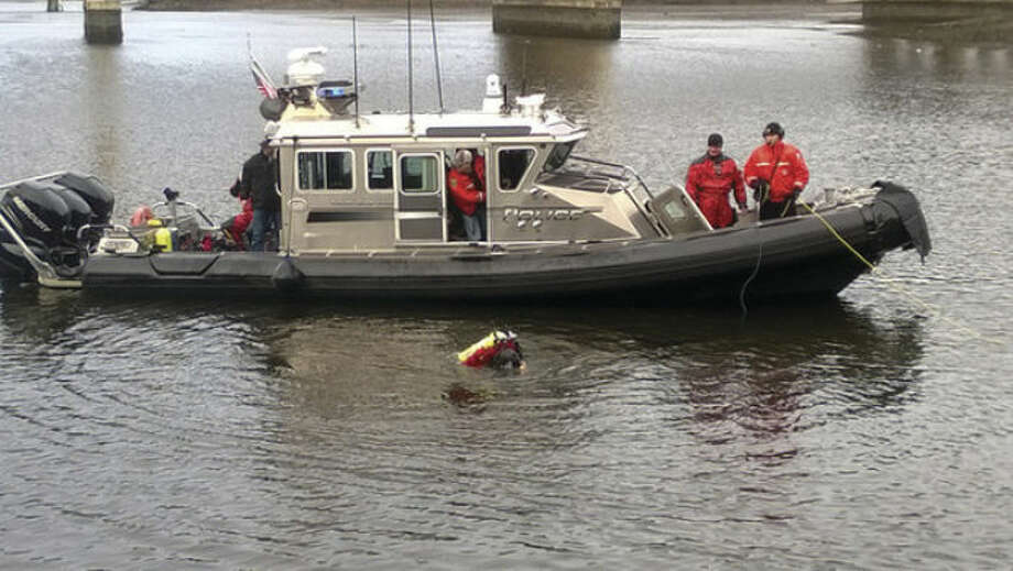 Contributed photoWestport Police detectives, assisted by the Westport Fire Department, launched a boat and responded to retrieve the body of Annette White last Friday.Westport Police set up a staging area near the Saugatuck Harbor Point Yacht Club and pulled White from the water at about 10:20 a.m., according to witnesses.