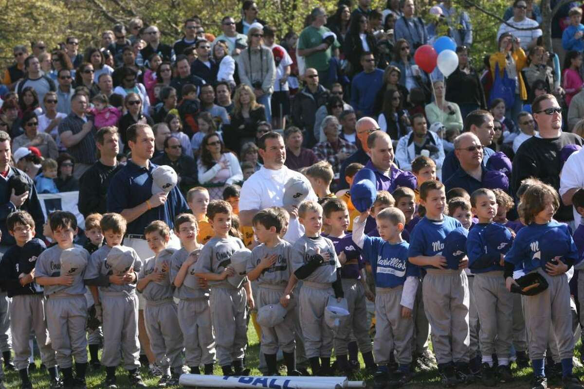 Fairfield celebrates National Little League's Opening Day at Tunxis Hill Field on Saturday, April 24, 2010.