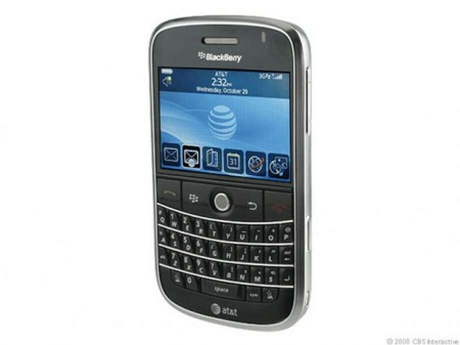 The RIM BlackBerry Bold boasts a sharpest display, HSDPA support, more productivity tools, and an updated OS. Other goodies include Wi-Fi; GPS; Bluetooth; and strong e-mail support with full QWERTY keyboard. (MCT)
