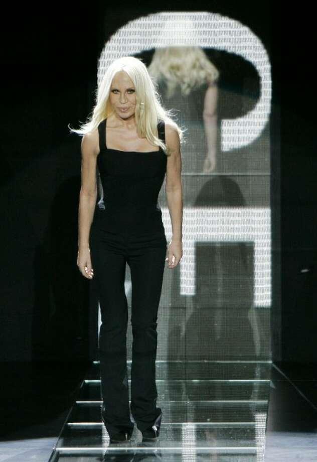 Italian designer Donatella Versace. (AP Photo)