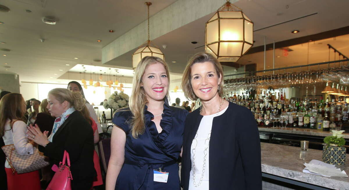 Jen Roosth and Sallie Krawcheck at Ellevate Houston's executive breakfast.